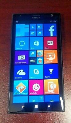 "Unlocked AT&T Nokia Lumia 1520 6"" Wifi Black 16GB Windows Phone 4G LTE GRADE B"
