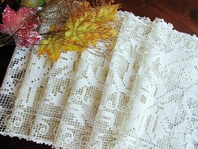 Antique Handmade Italian Knotted Lace Placemat SET of 6 Grapes Leaves Vines BOSA