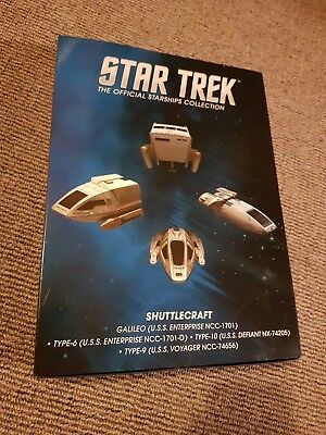 Star Trek The Official Starships Collection, Set 1, Shuttlecraft x 4, Eaglemoss.