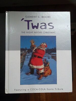 The Night Before Christmas Hard Cover Book-Clemnt C. Moore-Featuring Coca-Cola