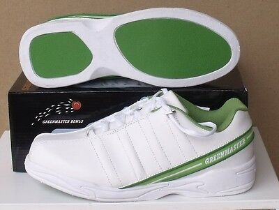 GREENMASTER Lawn Bowls Australia Approved Shoes Mens Leather UK / AU 5 5.5 10