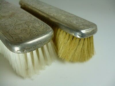 Matching Pair of Tiffany & Co. Sterling Silver Brushes TRUE Auction NO RESERVE