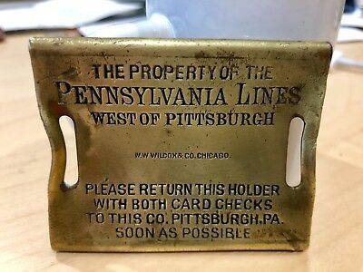 Pennsylvania Railroad Lines West of Pittsburg Baggage Tag