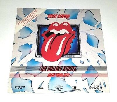 The Rolling Stones Great Video Hits Video Rewind Laserdisc Mick Jagger Rare