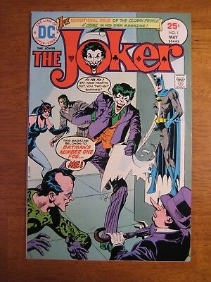 Wow! THE JOKER #1 1975, Super-Bright, Colorful & Glossy! NM/NM- (9.4/9.2)