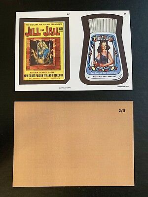 2018 Lost Wacky Packages VARIATIONS Double 3rd, 4th Bonus TAN BACK #2/3