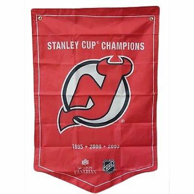 Molson NHL Stanley Cup Banner Flag New Jersey Devils RARE FIND