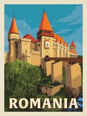 "Romania Vintage Travel Photo Fridge Magnet Size 2""x3"""