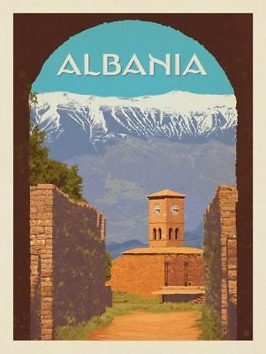 "ALBANIA Vintage Travel Photo Fridge Magnet Size 2""x3"""