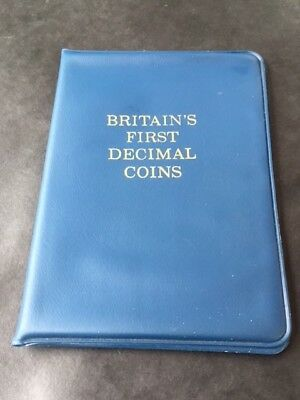 1971 1st Issue Britains First Decimal Coin Set Wallet / 5 Coin Set(4 Available)