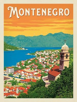 "MONTENEGRO Vintage Travel Photo Fridge Magnet Size 2""x3"""