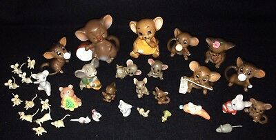 HUGE LOT Miniature Ceramic Mice & Mouse Figurines Josef Bone China Enesco Mini