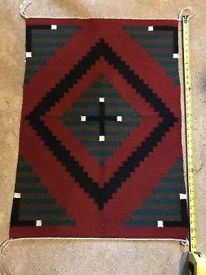 Vintage Native American Woven Saddle Blanket Rug