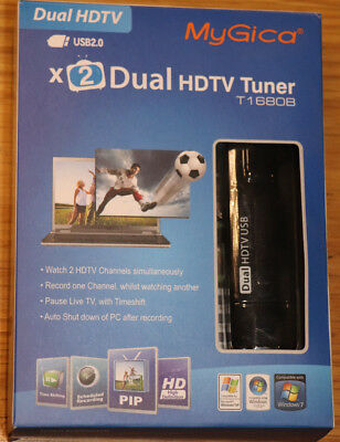 MyGica Dual HDTV Tuner T1680B USB dual DVB-T TV tuner with remote & antenna