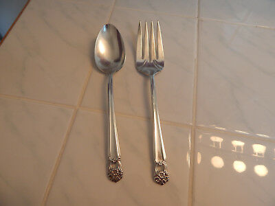 vtg 1847 rogers bros silverplate IS Eternally Yours serving spoon meat fork lot