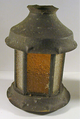 Vintage Antique Arts & Crafts era Hammered Copper Porch Bridge Lamp Shade