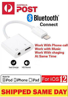 Apple Bluetooth 2in1 Adapter  Lightning+3.5mm Jack Earphones For iPhone X/8/7Max