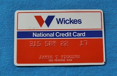 Wickes National Credit Card , Expired - Vintage