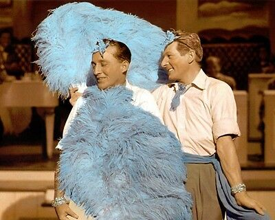 "Bing Crosby Danny Kaye White Christmas 1954 8X10"" Hand Color Tinted Photograph"