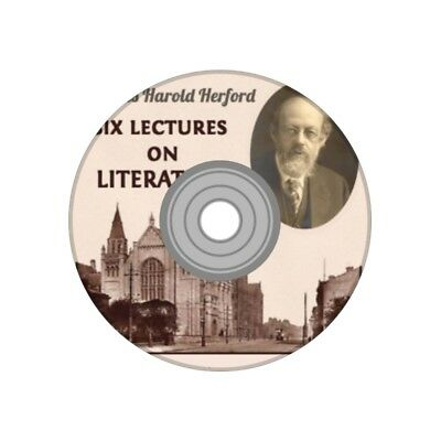 Six lectures on literary topics by C. H. Herford audio book MP3 CD
