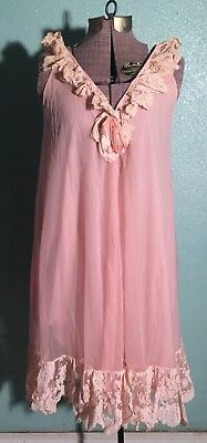 Vintage 50s 60s Peignoir Nightgown Lot. Saks Fifth Avenue And Gotham Size S 6f17735b5