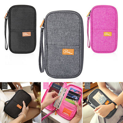 NEW Travel Wallet Passport Holder Document Wallet Ticket Credit Card Wallet AU