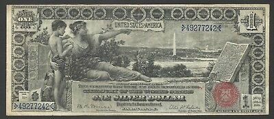 "Fr. 225 1896 $1 ""Educational"" Silver Certificate Bruce & Roberts RARE!"