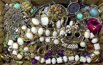 Huge Vintage - Now Jewelry Lot Estate Find Junk Drawer UNSEARCHED UNTESTED #114