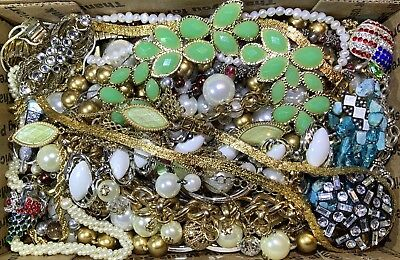 Huge Vintage - Now Jewelry Lot Estate Find Junk Drawer UNSEARCHED UNTESTED #115
