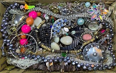 Huge Vintage - Now Jewelry Lot Estate Find Junk Drawer UNSEARCHED UNTESTED #116