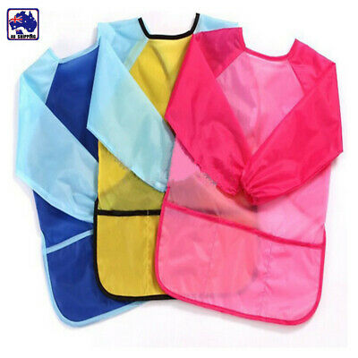 Kids Art Smock Waterproof Apron Long Sleeve Multifunctional M CPC0298