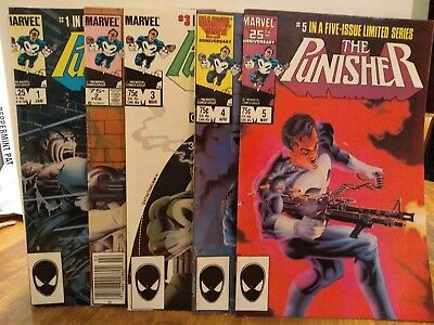 Punisher Limited Series 1-5 Complete Set
