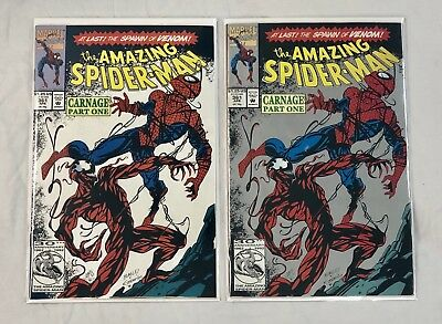 Marvel Amazing Spider-Man # 361 First Carnage Apr 1992 1st Printing 2 copies WOW