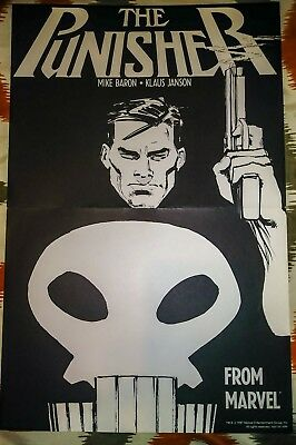 """1987 Marvel """"The Punisher"""" Poster 11"""" X 17"""""""