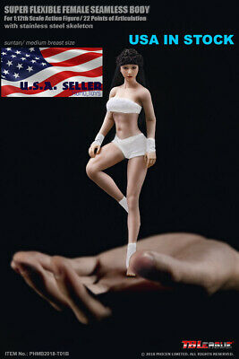 "TBLeague PHICEN 1/12 Female Seamless Body PHMB2018-T01B Barbie Figure 6"" ❶USA❶"