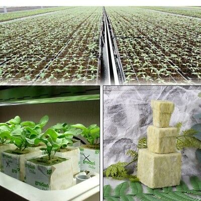 Cubes Rockwool Hydroponic Grow Media Soilless Cultivation Planting Compress Base