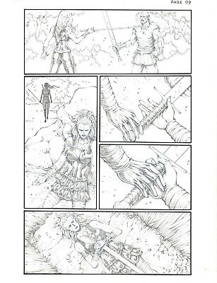 Red Sonja issue 100 page 9  by Noah Salonga