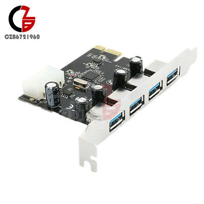 4 Port 5 Gbps Speed PCI-E to USB 3.0 HUB PCI Express Expansion Card Adapter