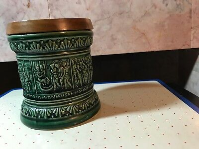 Vintage Marzi & Remy Green Humidor/tobacco Jar Made In Germany-E-96