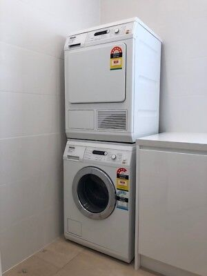 Miele Stackable Washing Machine And Dryer! Fantastic set, don't miss out!