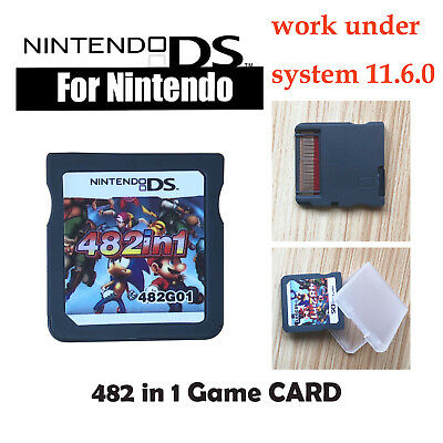For NDS NDSL 2DS 3DS NDSI  482 In 1 Video Game Cartridge Console Card kids GIFT