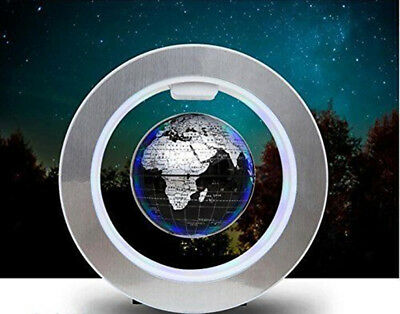 Magnetic Levitation Floating Globe World Map LED Light Round Shape Home Decor