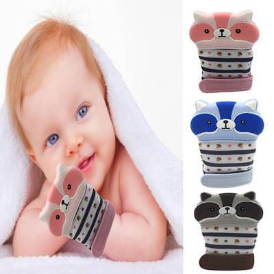 Baby Teething Mitten Food Grade Silicone Mitts Teething Glove Sound Teether Toys