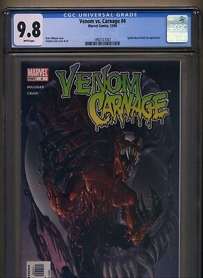 Venom vs Carnage #4 CGC 9.8 NM/MT (2004, Marvel) 1st Toxin cover BEST EBAY PRICE
