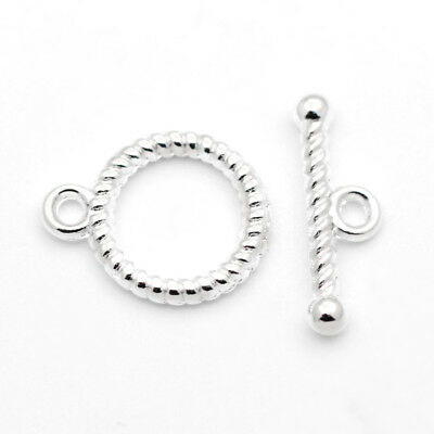 20 Set Tibetan Style Toggle Clasps For DIY Craft Bracelet Jewelry Making Silver