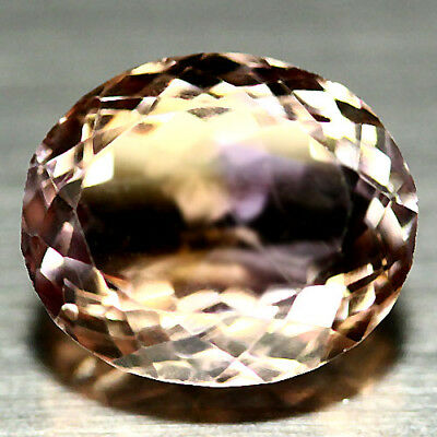 8.97 Ct Vvs Natural Purple & Golden Ametrine Bolivia Oval