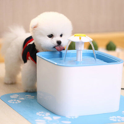 2.5L Pet Water Fountain For Cat Dog Automatic Water Drinking Bowl Dish Dispenser