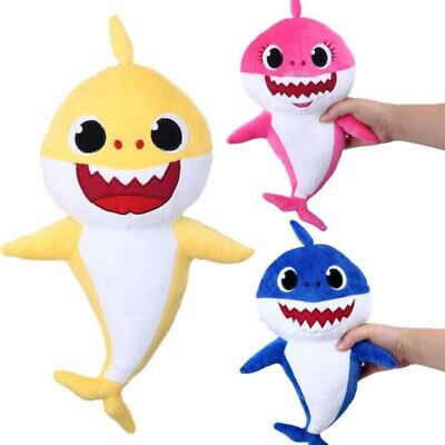 Cute Cartoon PinkFong Plush Fox Sharks Dolls Children Baby Animal Baby Kid Toy