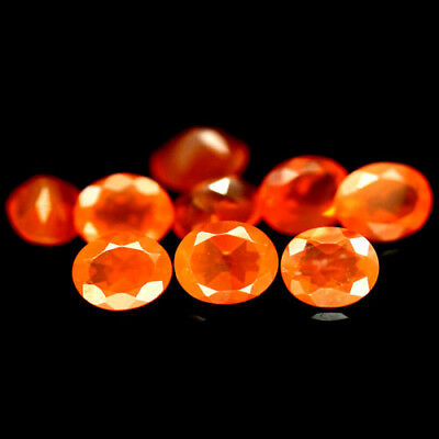 2.19 Ct Oval Cabochon 9Pcs Orange Fire Opal Mexican Oval