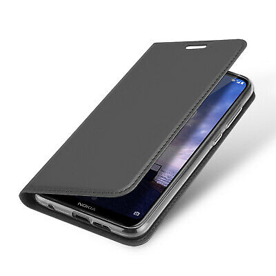 DUX DUCIS PU Leather Wallet Smart Magnetic Flip Case for Nokia 6.1 Plus - Black